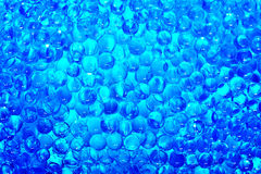 Abstract blue water balls texture Stock Images