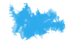 Abstract blue water color background Stock Photography