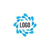 abstract blue water drops circle logo.  Royalty Free Stock Photo