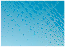 Abstract blue water drops illustration Royalty Free Stock Photo