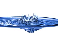 Abstract blue water splash Stock Images