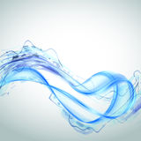 Abstract blue water splash isolated on white background. Royalty Free Stock Images