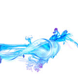 Abstract blue water splash isolated on white background. Royalty Free Stock Image