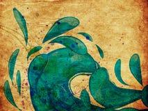 Grunge blue water splashes Stock Image