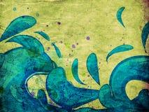 Grunge blue water splashes Stock Photo