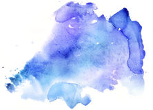 Abstract blue watercolor background Royalty Free Stock Photos