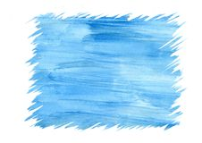 Abstract blue watercolor background  for frame, textures and backgrounds Royalty Free Stock Photos
