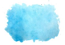 Abstract blue watercolor background isolated on white Stock Photos
