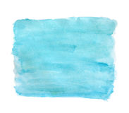 Abstract blue watercolor background. Blue watercolors abstract painted frame on real paper, can be used as a background, frame, button for different art Stock Image