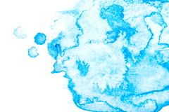 Paper texture for copy space. Abstract blue watercolor background on a white background. Banner for text stock photo