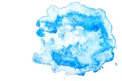 Paper texture for copy space. Abstract blue watercolor background on a white background. Banner for text stock image