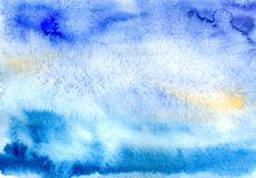 Blue watercolor Royalty Free Stock Image