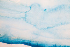 Abstract blue watercolor background Stock Photography
