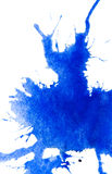 Abstract blue watercolor blot royalty free illustration