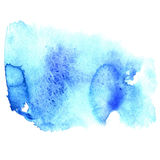 Abstract blue watercolor hand painted background Stock Photos