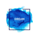Abstract blue watercolor splash Royalty Free Stock Image