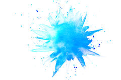 Abstract blue watercolor splash royalty free stock photos