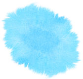 Abstract blue watercolor stain Royalty Free Stock Photos