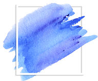 Abstract blue watercolor stain Royalty Free Stock Photography
