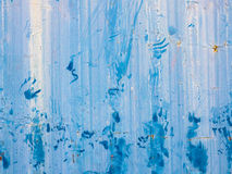 Abstract blue watercolor strained on wall Royalty Free Stock Image