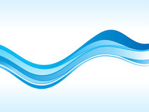Abstract blue wave. Vector illustration Stock Images