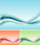 Abstract Blue Wave Royalty Free Stock Photography