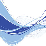 Abstract blue wave. Abstract dark blue wave with dotted elements. Vector Stock Images