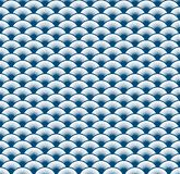 Abstract blue wave art line pattern background. Vector illustration Stock Photos