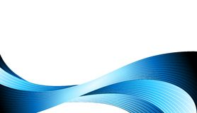 Abstract blue wave background Stock Photo
