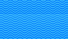 Abstract blue wave background Stock Photography
