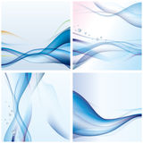 Abstract blue wave background. Illustration Stock Photo