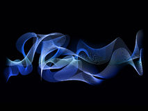Abstract blue wave background colour Stock Photo