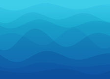 Abstract blue wave background Royalty Free Stock Images