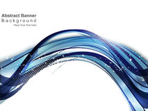 Abstract blue wave background with gurnge Stock Image