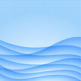 Abstract blue wave background. Royalty Free Stock Image