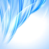 Abstract blue wave background Stock Photos