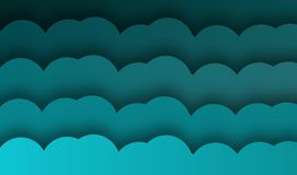 Abstract blue wave background, vector ,illustration, paper art. Style vector illustration
