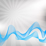 Abstract blue wave Royalty Free Stock Images