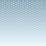 Abstract blue wave pattern background. Vector illustration Royalty Free Stock Photo