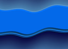 Abstract blue wave shapes with copy space Royalty Free Stock Photo