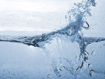 Abstract blue wave splash background Royalty Free Stock Images