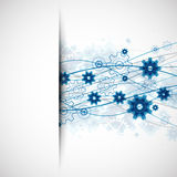 Abstract blue wave technology business template background. Royalty Free Stock Photo