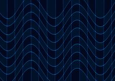 Abstract blue wave wallpaper Royalty Free Stock Photo