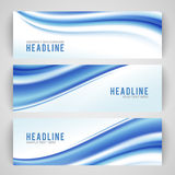 Abstract blue wave  on white background Stock Image