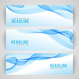 Abstract blue wave  on white background Stock Images
