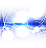 Abstract blue wave on white background vector Royalty Free Stock Photos