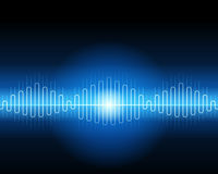 Abstract blue waveform. Vector background Royalty Free Stock Image