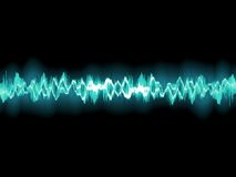 Abstract blue waveform. EPS 8 Royalty Free Stock Photography
