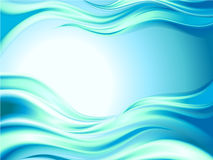 Abstract Blue waves. Sea and sun Royalty Free Stock Photos