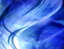 Abstract blue waves. Background, illustration Stock Image